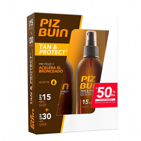 Piz Buin Tan & Protect Aceite Protector Pack SPF30 + SPF15 2x150ml