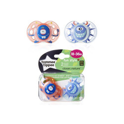 Comprar Tommee Tippee 2 Chupetes Fun Style 18-36m