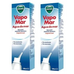 Comprar Vicks Vapomar Agua de Mar Spray Hipertónico 2 x 100ml.