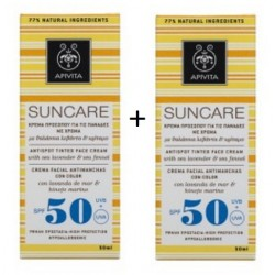 Comprar Apivita Suncare Crema Facial Antimanchas Color SPF 50 2 x 50ml