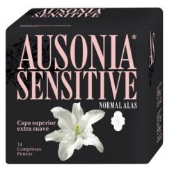 Comprar Ausonia Sensitive Normal con Alas 14 uds