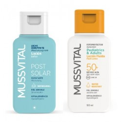 Comprar Mussvital Travel Kit Fluid Lotion SPF 50+ 100ml + Post Solar Lotion 100ml