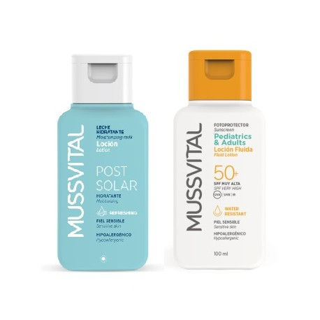 Mussvital Travel Kit Fluid Lotion SPF 50+ 100ml + Post Solar Lotion 100ml