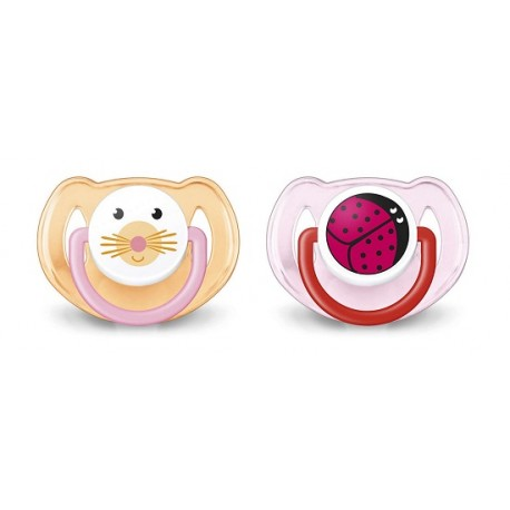Avent Chupete con Animales 6-18m 2uds