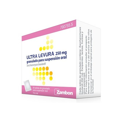 ULTRA-LEVURA (250 MG 20 SOBRES GRANULADO SUSPENSION ORAL)