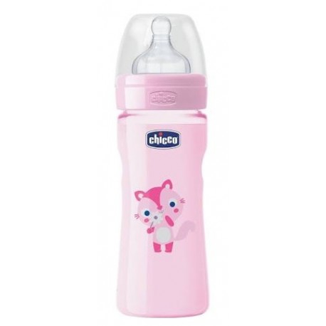 Chicco Biberón Well Being Silicona +2meses 250ml