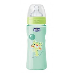 Chicco Biberón Well Being Silicona +4meses 330ml