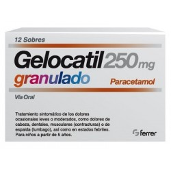 Comprar Gelocatil 250 mg 12 Sobres Granulado